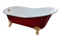 Ванна Magliezza Gracia Red 170x76 ножки белые